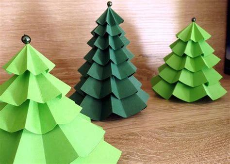 Bild 4  Weihnachtsdeko selber machen PapierTannenbäume