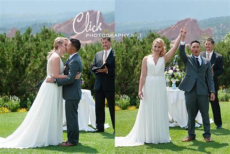 garden of the gods club wedding click photography