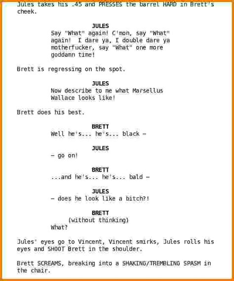 Script Template 6 Script Exles Financial Statement Form