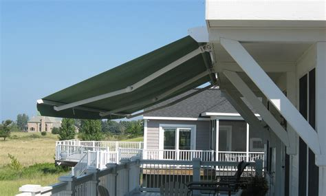 electric manual retractable awnings muskegon awning