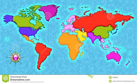 map   world stock illustration illustration