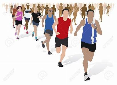Marathon Clipart Runners Running Runner Maratona Groupe