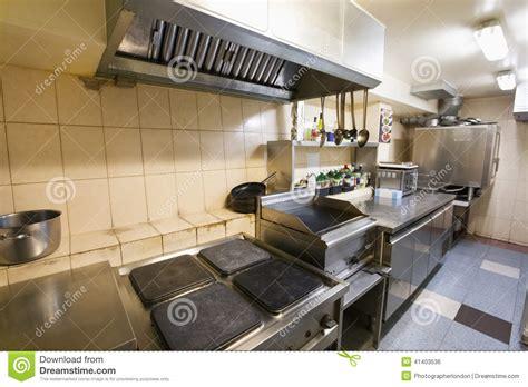 interieur cuisine intérieur de cuisine vide de restaurant photo stock