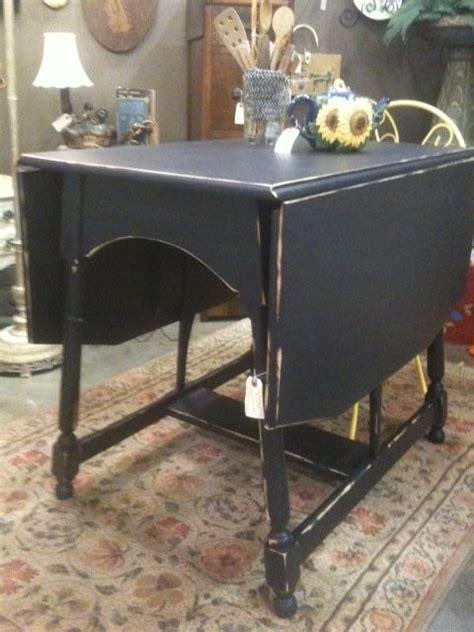 antique drop leaf table redone shabby chic  flat black