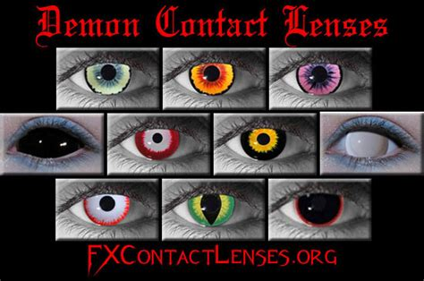 Halloween Contacts Non Prescription Zombie by Demon Contact Lenses Demon Eye Contacts