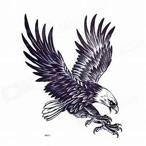 Flying Eagle Landing On Earth Tattoo Design