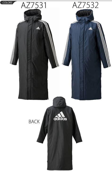 apworld adidas adidas mens bench coat  stripes long