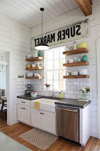 magnolia homes waco farmhouse kitchen and black pendant With objet cuisine vintage