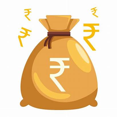Money Bag Rupee Indian Transparent Sign India