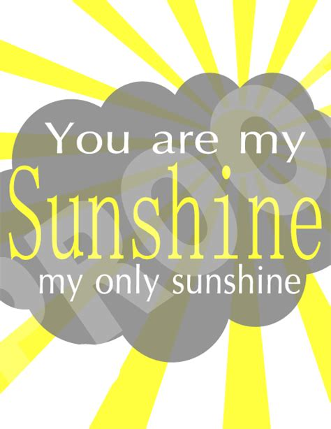 one willis family you are my sunshine printable
