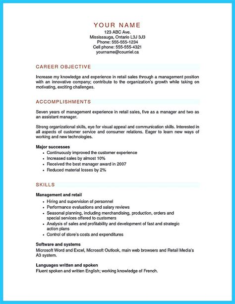 Retail Assistant Manager Resume Exles by You Can Start Writing Assistant Store Manager Resume By