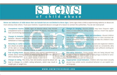 helpful amp educational brochures 526 | Signs of Child Abuse