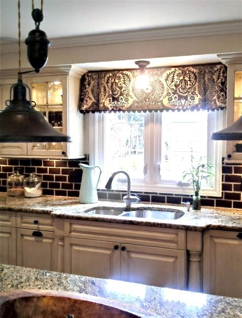 Kitchen Valance by Window Valance W Decorative Trim Kitchen