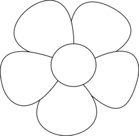 simple flower outline clipart   cliparts