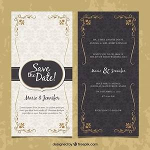 elegant invitation vectors photos and psd files free With 2 sided photo wedding invitations