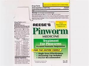 Pinworm Medicine Details From The Fda Via Otclabels Com