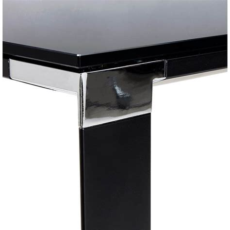 bureau en verre trempé noir bureau droit design boin en verre trempé noir mobilier