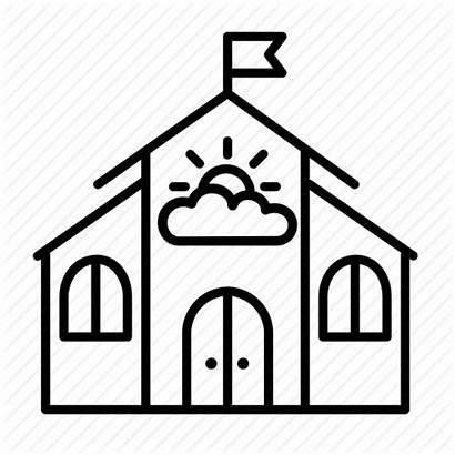 Kindergarten Icon Building Nursery Primary Children Education