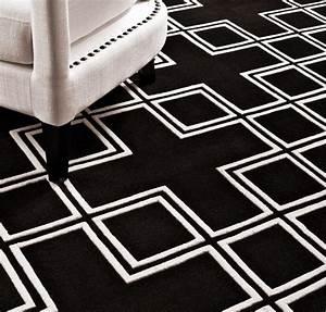 Teppich 240 X 240 : wundersch ner luxus teppich aus 100 neuseeland wolle schwarz weiss samtweich 170 x 240 cm ~ Bigdaddyawards.com Haus und Dekorationen