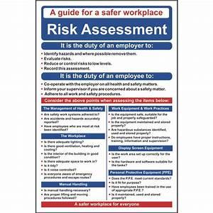 Risk Assessment Poster    Wall Chart