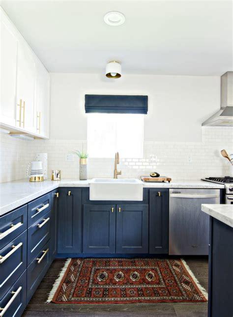 cuisine en bleu 1001 idées pour une cuisine bleu canard les intérieurs