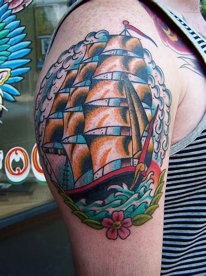 Tattoo Ship Traditional Pirate Neo Tattoos Clipper