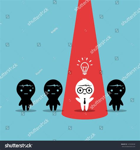 creative business cartoon character stand  stock vector