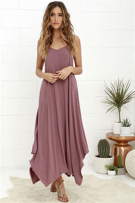 Others Follow Kiara Dress Mauve Maxi Dress Strappy