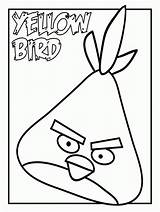 Coloring Pages Birds Angry Yellow Bird Printable Colouring Things Vacation Summer Worksheet Templates Come Moldes Kleurplaten Sheets Knutselen Worksheets Living sketch template