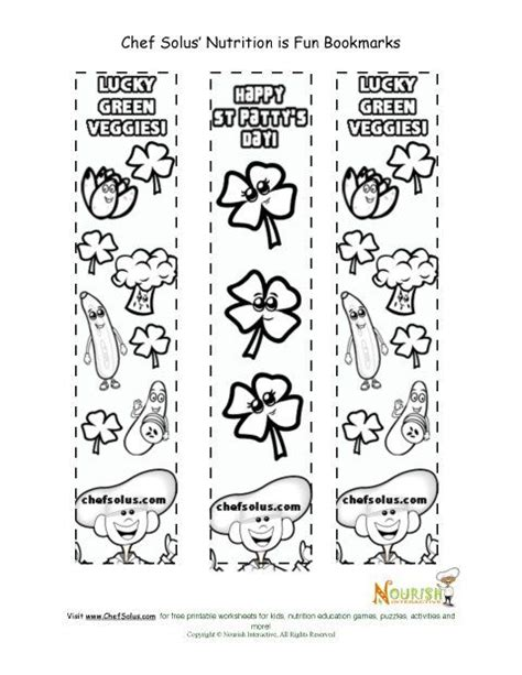 holiday  bookmark st patricks day coloring page