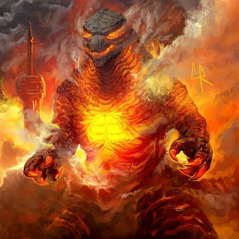 Burning Godzilla Wallpapers - Wallpaper Cave