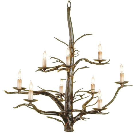 branch chandelier sculpted wrought iron branches 9 light chandelier kathy