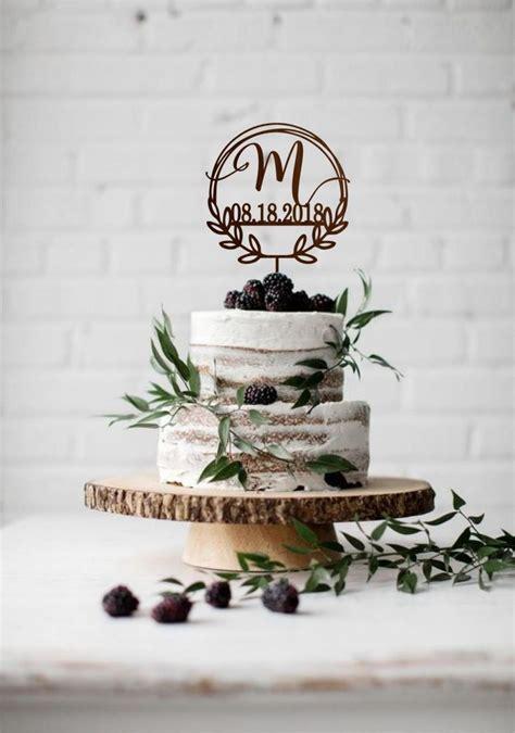 monogram wedding cake topper  date initial wedding