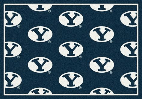 Byu Cougars Repeat Logo Area Rug