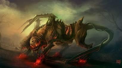 Horror Wallpapers Fantasy Creatures Creature Background Cerberus