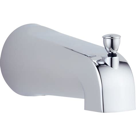Delta Tub Faucet Leaking From Spout by Shop Delta Chrome Tub Spout With Diverter At Lowes