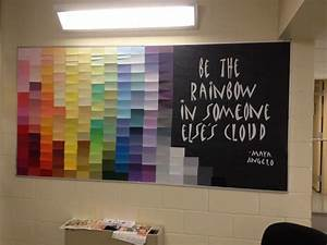 bulletin boards the rainbow and rainbows on pinterest With kitchen cabinets lowes with maya angelou wall art