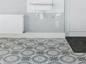 Faux Carreaux De Ciment : carrelage sol aspect carreaux de ciment ~ Premium-room.com Idées de Décoration