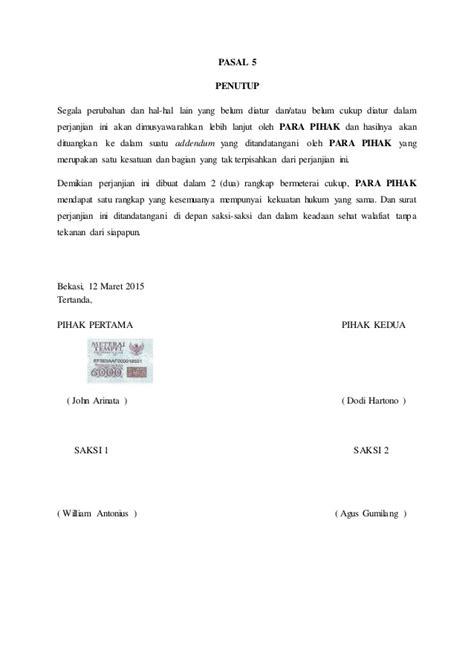 43 free contoh surat perjanjian kerjasama bisnis