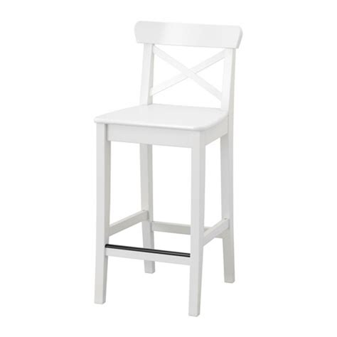 Chaise Ingolf Occasion ingolf bar stool with backrest 24 3 4 quot ikea