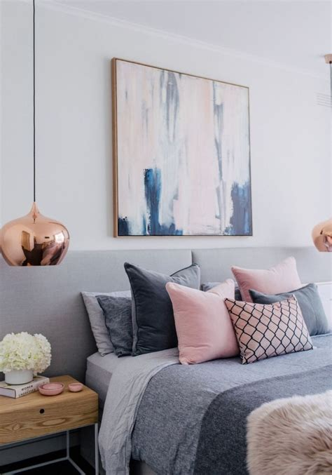 blush white and grey bedroom inspiration bedrooms