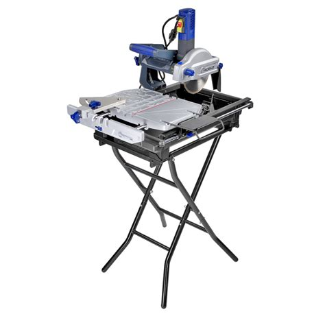 kobalt table saw review shop kobalt 7 in slide tile saw with stand at lowes com