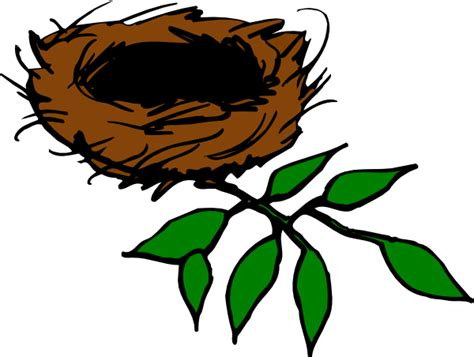 Nest With Leaves Clip Art At Clker.com