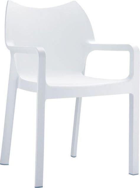 stoel diva wit bol 24designs tuinstoel diva stapelbaar armleuningen
