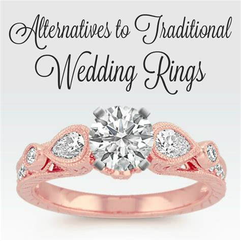 alternatives to traditional wedding rings a nation of