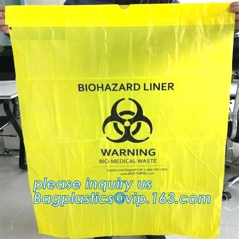seal adhesive biohazard waste bags clinical