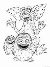 Coloring Pages Gremlins Halloween Gremlin Gizmo Sheets Monster Sketchite sketch template