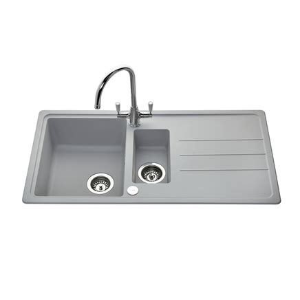 lamona light grey composite  bowl sink howdens joinery
