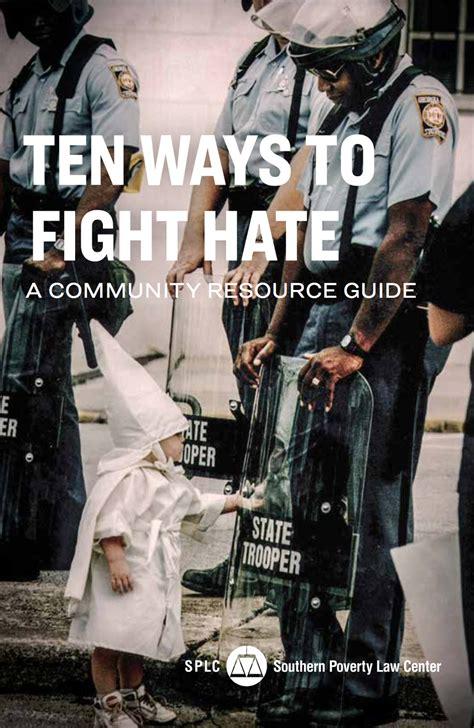 ten ways  fight hate  community response guide
