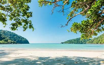 Tropical Island Sea Summer Beach Lagoon Ocean